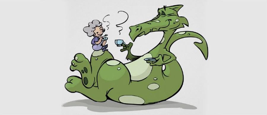 Драконы тоже любят чай. Чай Улун в дословном переводе с китайского обозначает Тёмный дракон.