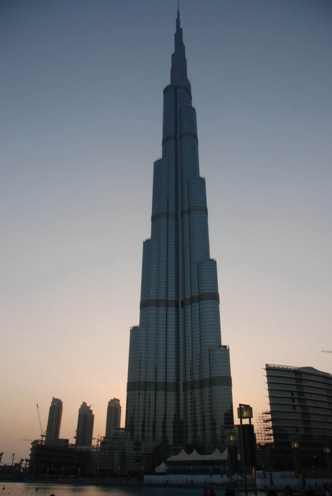 Бурж Халифа - самое высокое здание в Дубаи