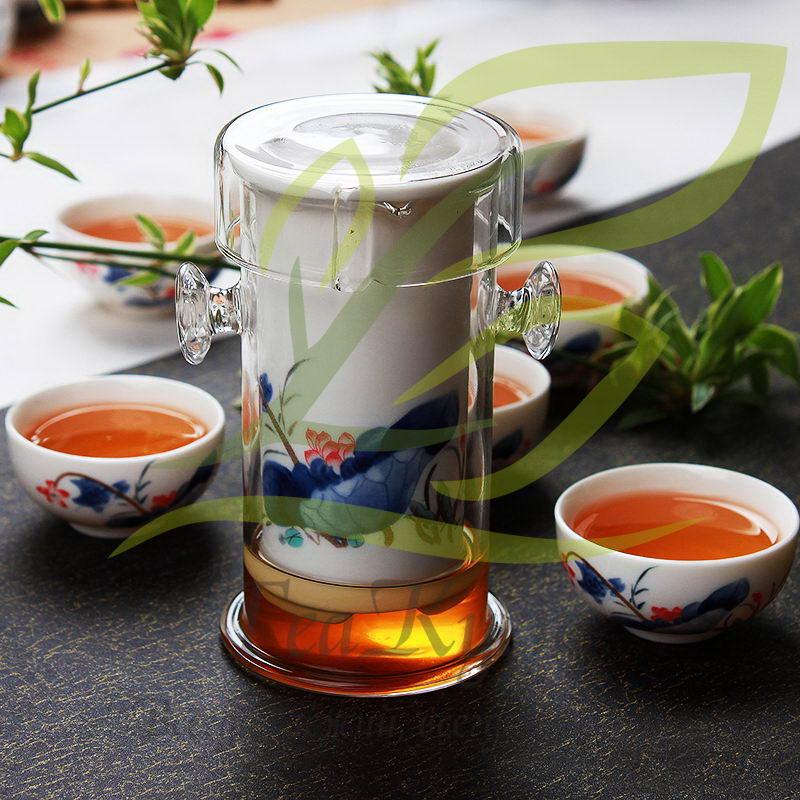 Стеклянная колба для заваривания чая позволит заново открыть вкус любимого напитка.