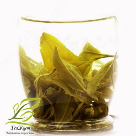 Качество чая Жасминовая Драконья жемчужина определяется завариванием его в прозрачном стакане