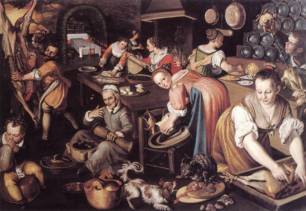 Кухня, холст, масло, Винченцо Кампи, 1580, Картинная галерея Брера