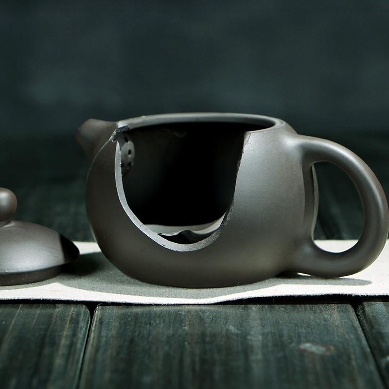 Китайский чайный сервиз из чёрной глины (1)
