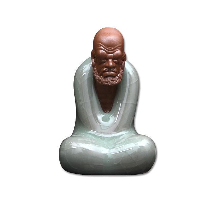 Статуэтка «Архат Постигающий Дзен» из потресканного фарфора
