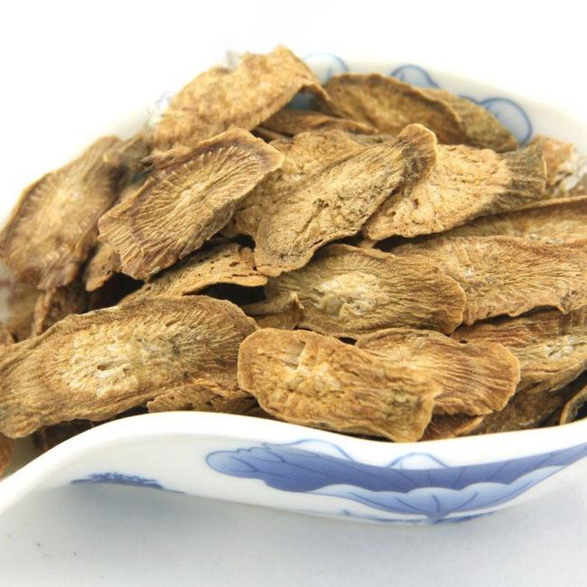 Нарезанный Корень Золотого Лопуха — Китайский Травяной Чай