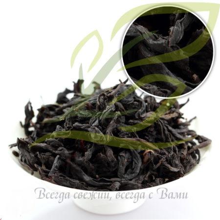 Листья улуна ДаХунПао и многих других чаёв тоже чёрного цвета