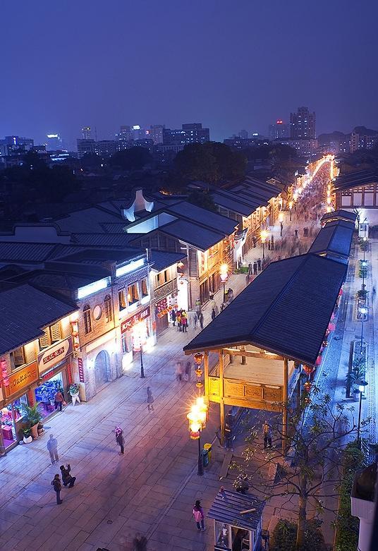 Улица Центрального города Фучжоу в наши Дни (Провинция Фуцзянь)