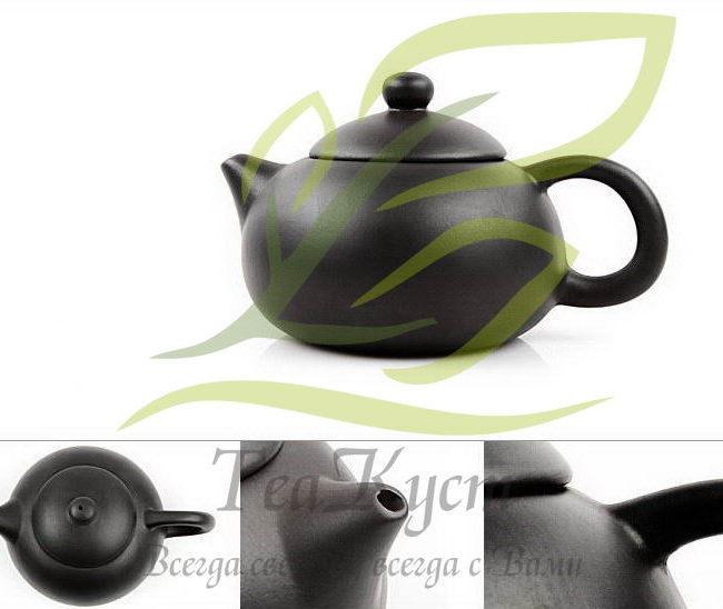 Чёрный чайник из исинской глины позволит насладится любимым пуэром или тёмным улуном.