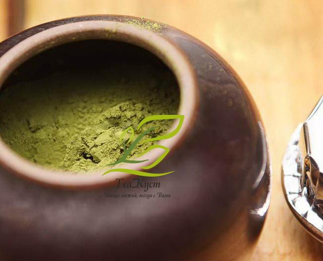 Маття (матча) - японский порошковый чай из Китая в банке