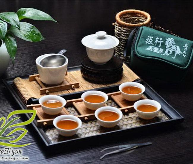 Походный набор для чаепития в китайском стиле (Белый) главное фото