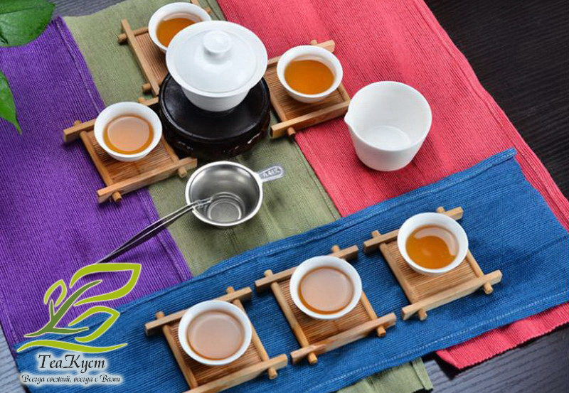 Удобный белый туристический набор для чаепития в Китайском стиле Пин Ча