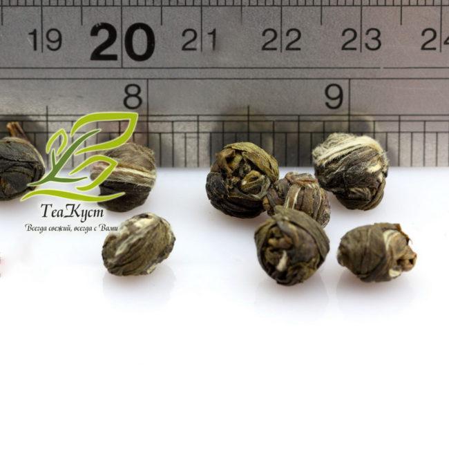 Крупные перлы Качественного зелёного чая Жасминовая жемчужина