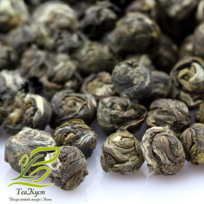 Скрученные листья чая Жасминовая жемчужина в перлы