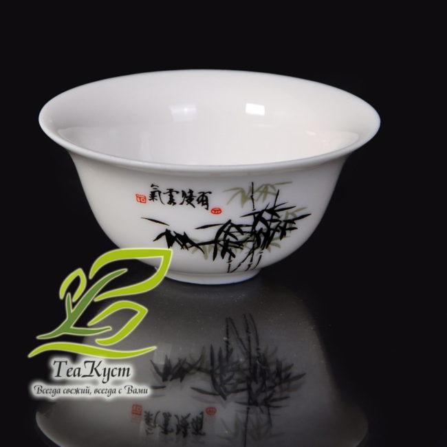 """Белый Сервиз из фарфора с рисунком в Китайском стиле """"Бамбуковая Роща"""" пиала"""