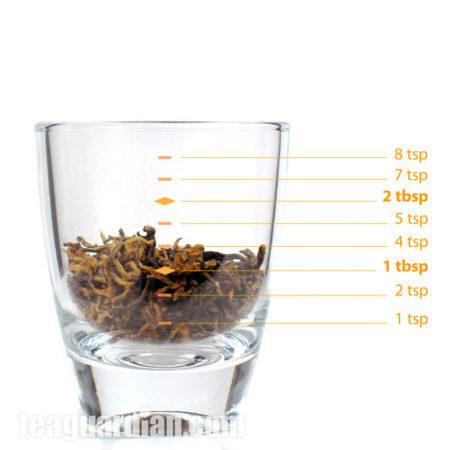 Сколько чая в 3-х граммах в Золотых Бровях.
