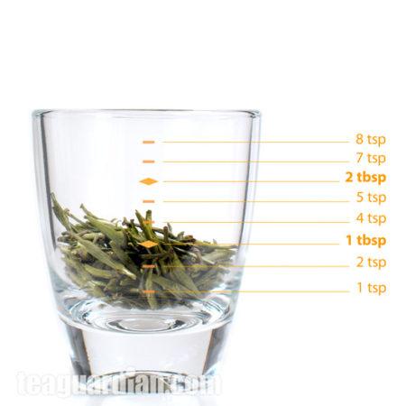 Сколько чая в 3-х граммах Аньси БайЧа.