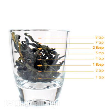 Сколько чая в 3-х граммах в Фэн Хуан Дань Цунь Феникс Улун.