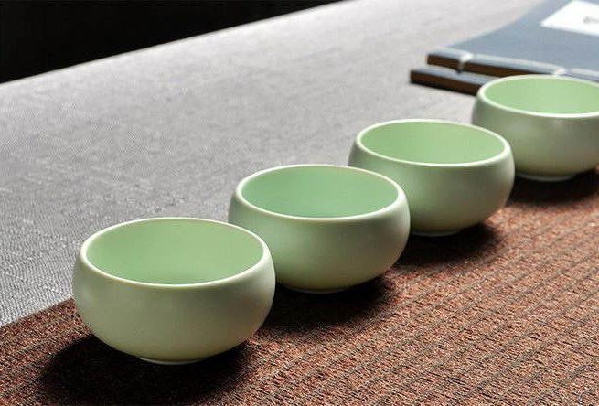 Пиалы из чайного сервиза «Нефритовый Император»