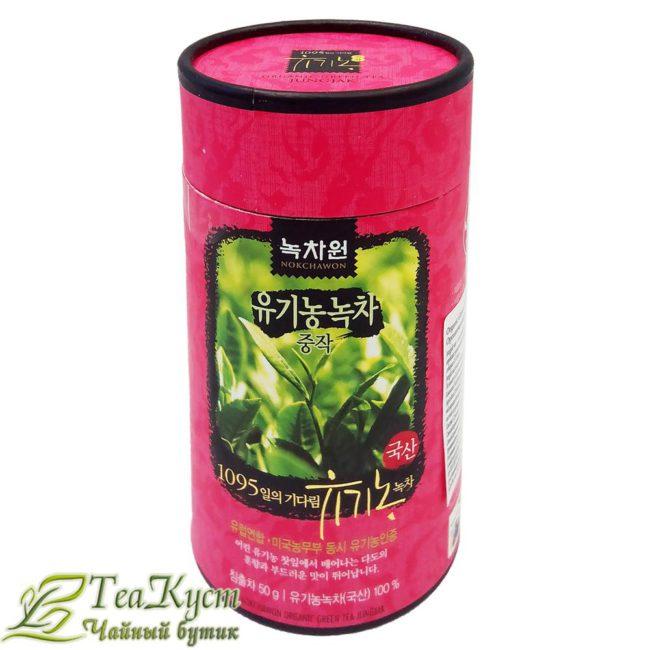Джунджак - Корейский Зелёный чай EQ в подарочной розовой тубе упаковке