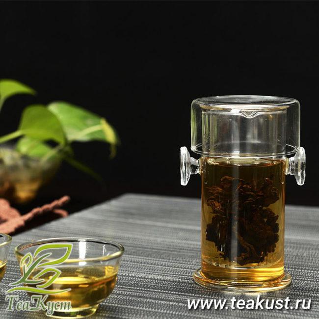 Чайная колба из стекла для заваривания чая