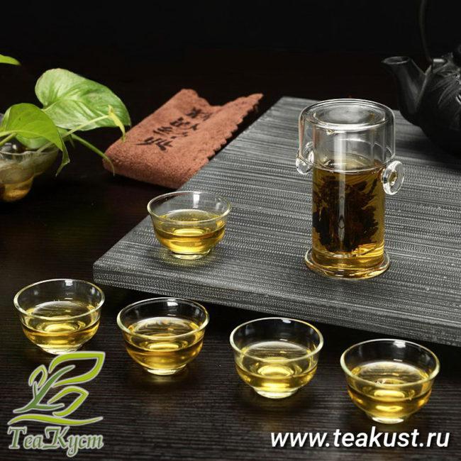 Чайная колба из стекла для заваривания чая подойдёт под любой сервиз