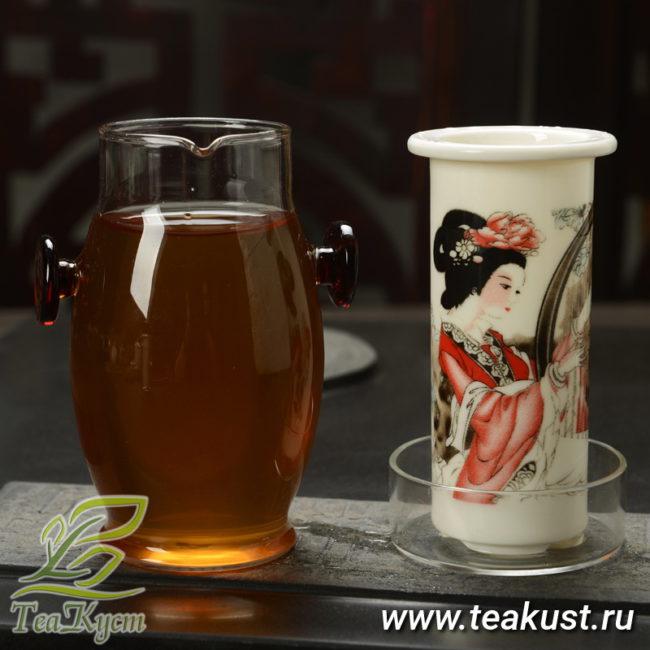 Внешняя часть колбы с чаем, внутренняя стоит на подставке крышке