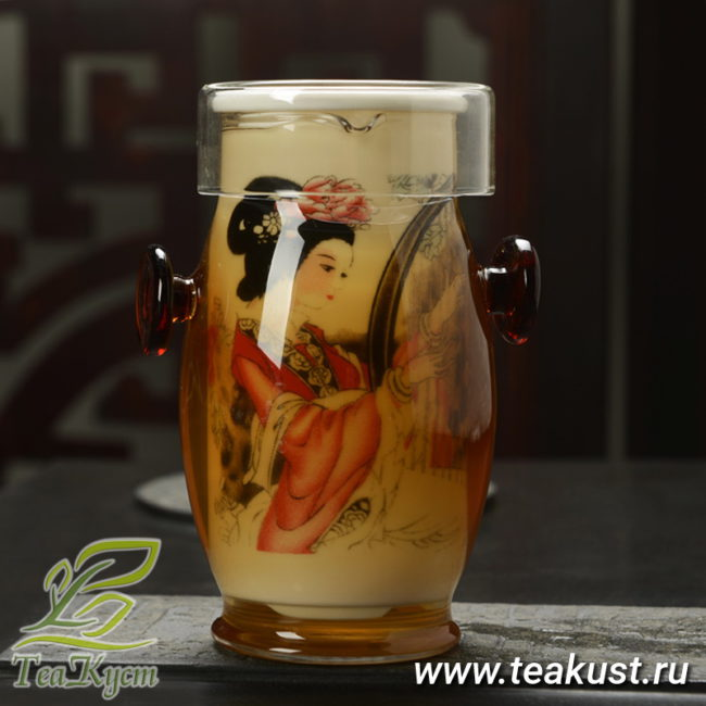 Выпуклая колба для заварки чая «Арфистка»