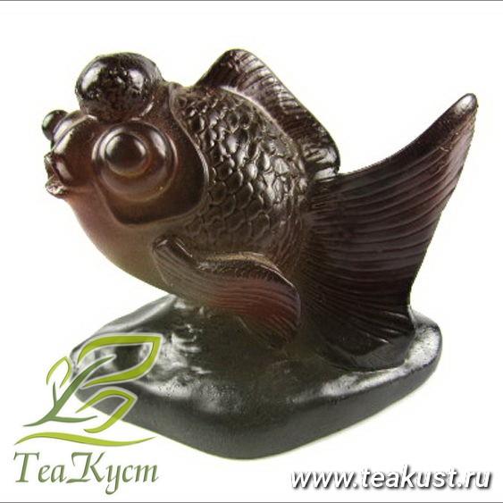 Чайная статуэтка рыбки (меняет цвет)