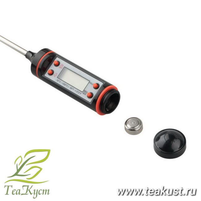 Цифровой термометр TP101 отсек для батарейки